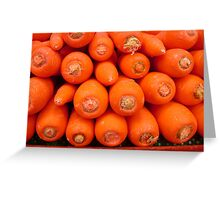 Bright Orange Carrots Greeting Card