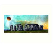 Building A Mystery 2 - Stonehenge Art By Sharon Cummings Art Print