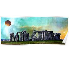 Building A Mystery 2 - Stonehenge Art By Sharon Cummings Poster