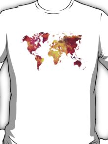 Map of  the world after nuclear war T-Shirt