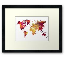 Map of  the world after nuclear war Framed Print