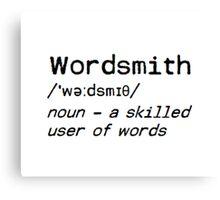 Wordsmith definition Canvas Print