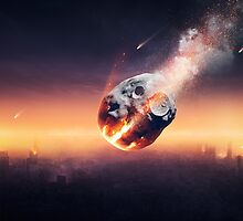 City destroyed by meteor shower by Johan Swanepoel