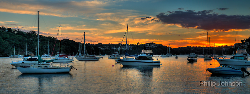 Middle Harbour Anchorage - Sydney Harbour, Sydney Australia - The HDR Experience by Philip Johnson
