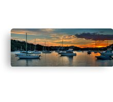Middle Harbour Anchorage - Sydney Harbour, Sydney Australia - The HDR Experience Canvas Print