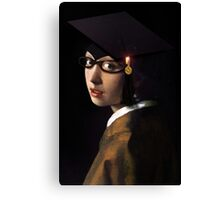 Girl with the Graduation Cap & Glasses Canvas Print