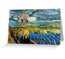 The Scream on the Starry Night Greeting Card