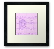 Vintage Carousel Dreams Soft Purple Sheet Music Framed Print