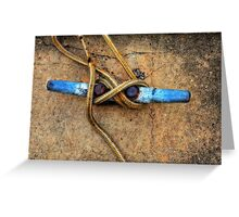 Waiting - Boat Tie Cleat By Sharon Cummings Greeting Card
