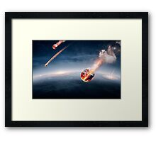 Meteorites on their way to earth Framed Print