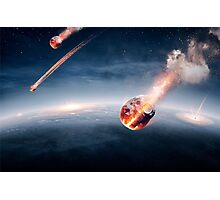 Meteorites on their way to earth Photographic Print