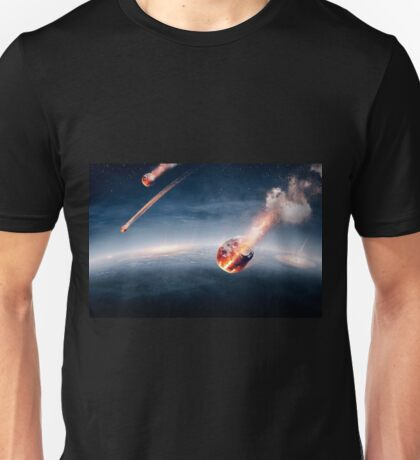 Meteorites on their way to earth Unisex T-Shirt