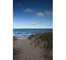 Sand Dunes on lake Superior Photographic Print