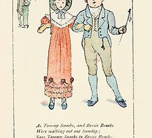 Mother Goose or the Old Nursery Rhymes by Kate Greenaway 1881 0054 Tommy Snooks and Bessie Brooks by wetdryvac