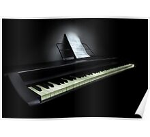 Piano with sheet music Poster