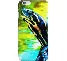 Colorful Turtle by Sharon Cummings iPhone Case/Skin