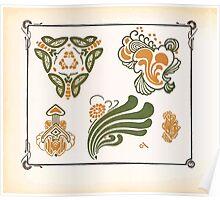 Maurice Verneuil Georges Auriol Alphonse Mucha Art Deco Nouveau Patterns Combinaisons Ornementalis 0008 Poster