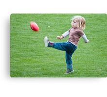 Football Lesson Canvas Print