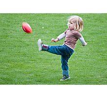Football Lesson Photographic Print