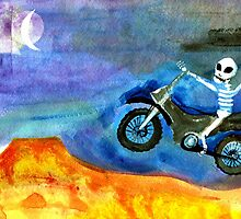 motocross day of the dead by dayofthedeadart