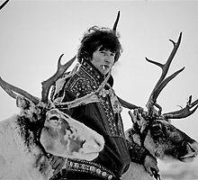 With reindeer ,  Lapland by yoshiaki nagashima