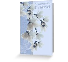 Friend Birthday Card With Flowers Greeting Card