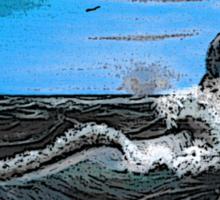 'Raging sea - Old man of the Rocks' Sticker