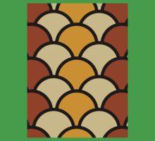 Vintage Retro Polkadot Brown Pattern One Piece - Short Sleeve