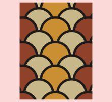 Vintage Retro Polkadot Brown Pattern Kids Tee