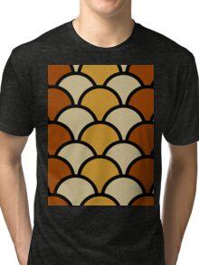 Vintage Retro Polkadot Brown Pattern Tri-blend T-Shirt