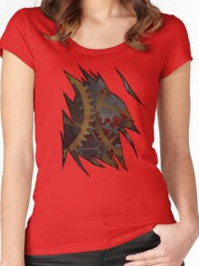 STEAMPUNK INSIDE Women's Fitted Scoop T-Shirt
