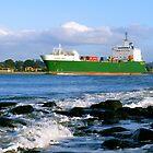Searoad Tamar departs Devonport by Cody Williams