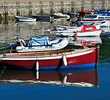 Small Boats At Lyme Regis Harbour by Susie Peek