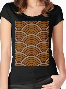 Brown Wave Women's Fitted Scoop T-Shirt