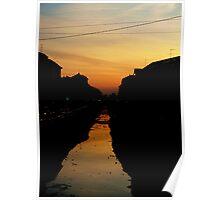 Milanese Sunset Poster