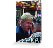 Boris and the Pearly King Greeting Card