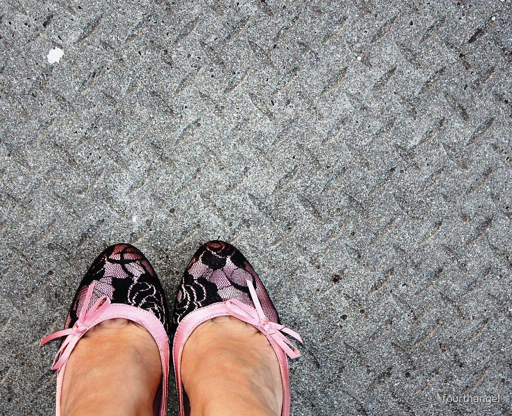Pink & black lace by fourthangel