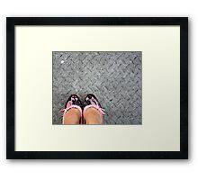 Pink & black lace Framed Print