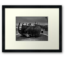 Face Sculpture At Mermaid Quay Cardiff Wales Framed Print