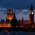 Big Ben at night by Dan Treasure