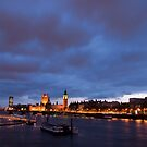 London Eye, Big Ben and the Houses of Parliament by Dan Treasure