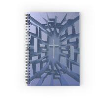Abstract 3D Christian Cross Spiral Notebook