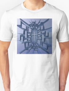 Abstract 3D Christian Cross Unisex T-Shirt