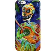 Mariachi Gutar Player Day of the Dead Skeleton iPhone Case/Skin