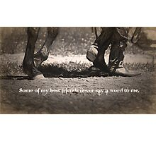 Silent Partner Photographic Print