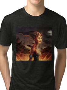 Magma Devil Tri-blend T-Shirt