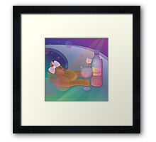The cat is drunk Framed Print