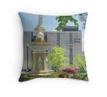 In the City Park Throw Pillow