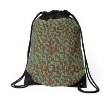 Alphabet and Number Pattern Drawstring Bag