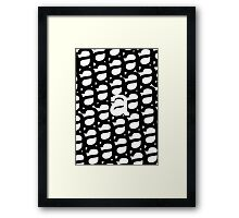 study of a- typographical patterns Framed Print